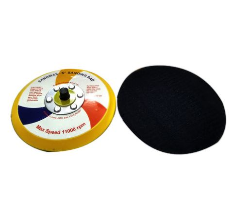 SANDMAX 5 Inch x No Holes Pads Velcro For Pnematic Sander JMD-MG-1255INHBP ( abr_aba_dbs_012 )