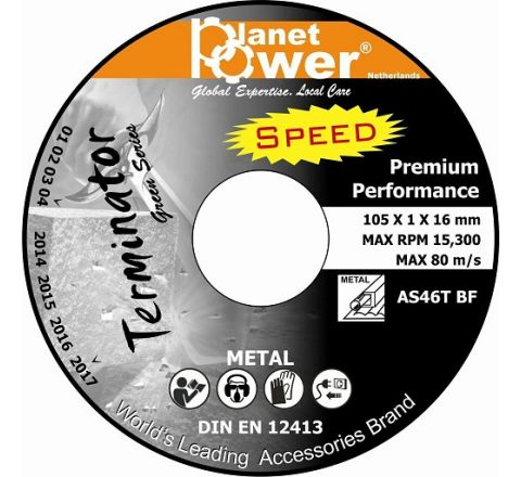 Planet Power 4 inch Cut Off Wheel Terminator 105 x 1 x 16 mm ( abr_cut_cow_055 )