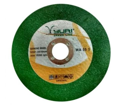 YURI 4 Inch Green 105 x 1 x 16 mm Cut off wheel ( abr_cut_cow_079 )