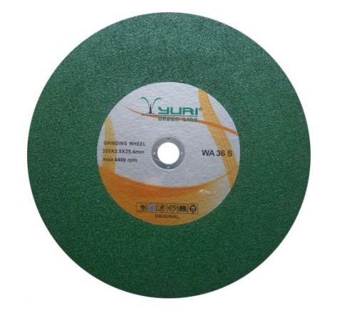 YURI 14 Inch Green Chop Saw Wheel 355 x 2.5 x 25.4 mm ( abr_cut_csw_047 )