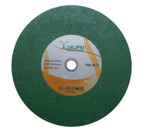 YURI 14 Inch Green Cut Off Wheel 355 x 2.5 x 25.4 mm ( abr_cut_csw_049 )