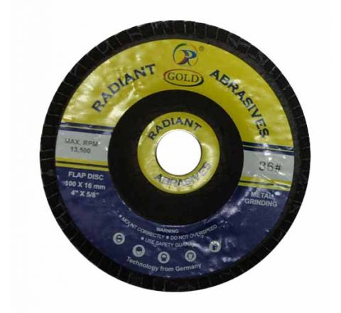Radiant 4 inch Flap Disc 100 x 16 mm - Box Of 10 ( abr_fla_fds_004 )