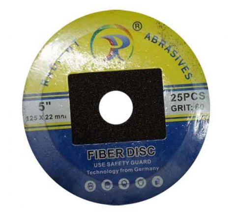 Radiant 5 inch Fiber Disc 125 X 22 mm - Box Of 50 ( abr_fla_fds_009 )