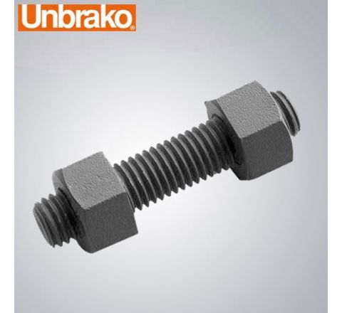 "Unbrako 1.1/2""X10"" Stud Bolt With 2 Heavy Hex Nuts-Pack of 10_FST_BNS_3421"