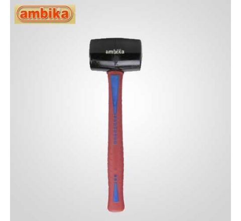 Ambika 490 Gms Rubber Hammer With Fiberglass Handle-AO-H401 HT_HNST_047