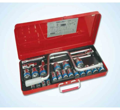 Taparia 12.7mm(1/2inch)Square Drive Sockets Set(11 Sockets+4 Accessories)-S-22H HT_HTK_254