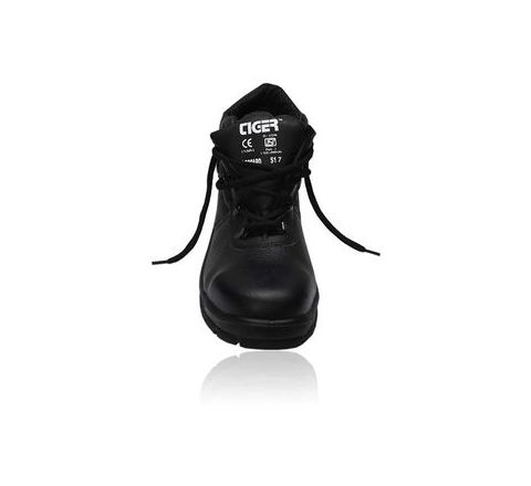 Tiger Leopard 8 No. Black Steel Toe Safety shoes