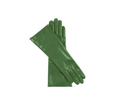 Alamdar Leather Gloves-Green, 14 Inch Pack of 10 Pair AE 306
