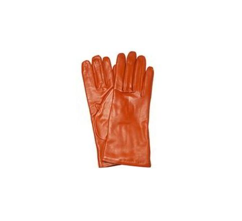 Alamdar Leather Gloves-Orange, 14 Inch Pack of 10 Pair AE 306