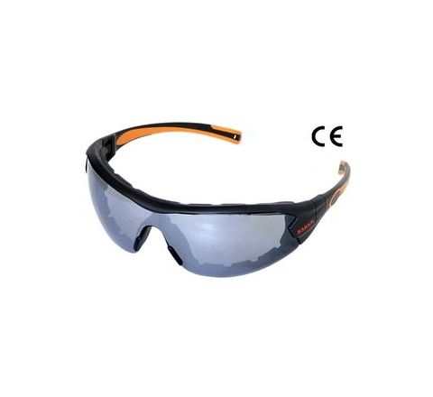 Karam ES012(Mirror Finish) Scratch-Resistant Safety Goggles Pack of 1