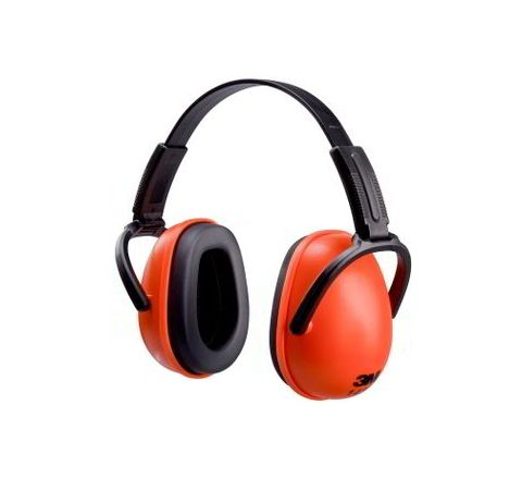 3M 1436 23 dB Orange and Black Earmuff