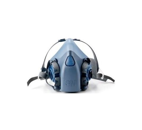 3M 7502 Light Blue Half Mask Respirator