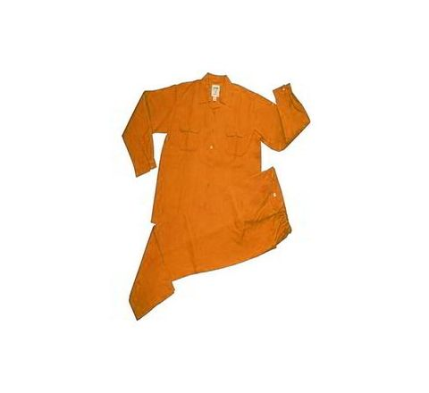 Galaxy Enterprise Orange Color Polyester Cotton Shirt And Trouser WM 008