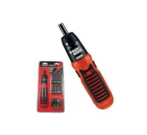 Black and Decker Battery Powered Cordless Screwdriver A7073-IN 130rpm by Black & Decker