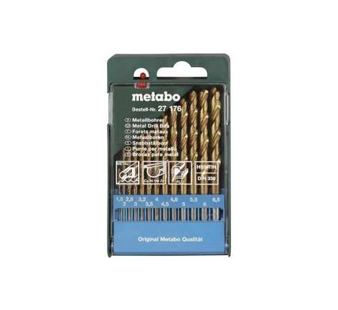 Metabo CUMIMETACC59 HSS-Titanum coated twist drills (13 Pcs) by Metabo