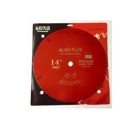 Alko Plus Aluminium TCT Saw Blade 14 Inch x 100T for Wood Cutting by Alko Plus