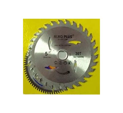 Alko Plus Silver TCT Saw Blade 5 Inch x 30T for Wood Cutting by Alko Plus