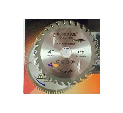 Alko Plus Gold TCT Saw Blade 4 Inch x 30T for Wood Cutting by Alko Plus