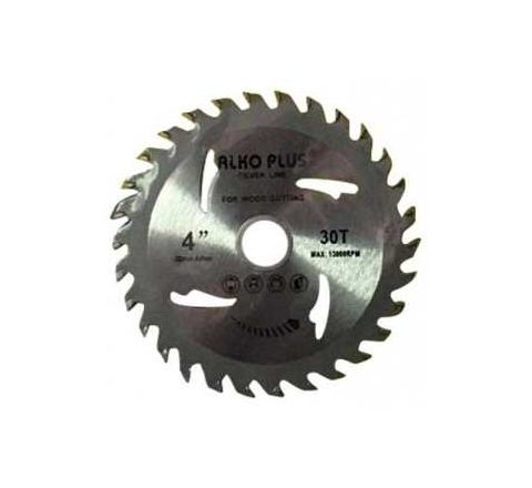 Alko Plus Silver TCT Saw Blade 4 Inch x 30T for Wood Cutting by Alko Plus