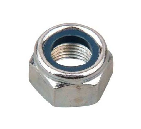 Mahavir Fasteners Stainless Steel Nylock Nut (Dia M12, Grade 304)by Mahavir Fasteners