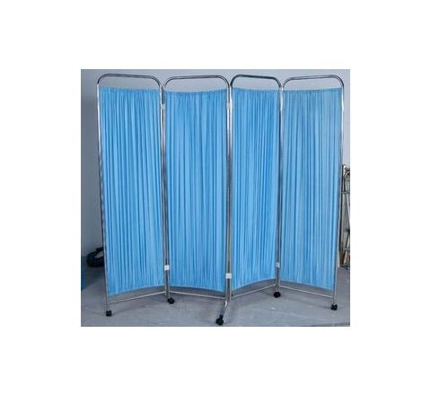 Surgitech Blue 4 Pannel Bed Side Screen SI-147 by Surgitech