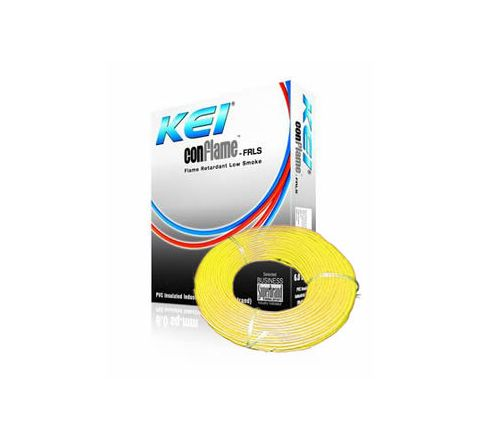 Kei Flame Retardant Low Smoke Halogen Cable Yellow 90 m 6 Sq. mm