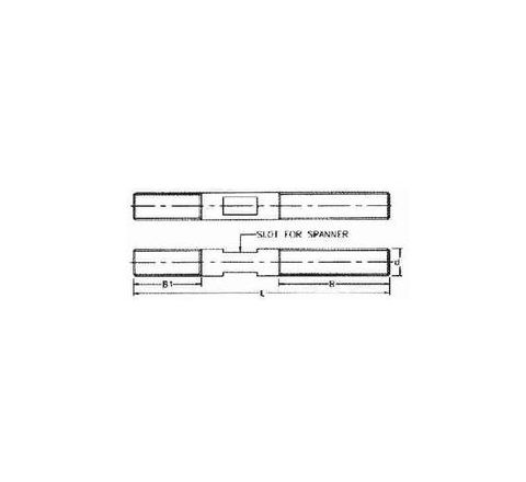 P-Tech 200 mm Clamping Stud With Slot PCSB 20-200by P-Tech