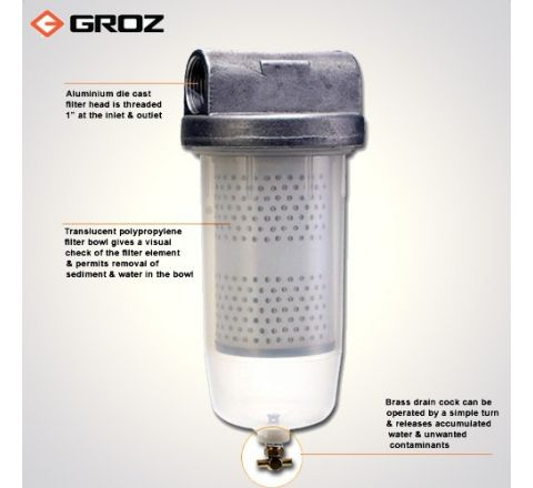 Groz 10 MICRONS High Flow 10 Micron Fuel Filter FF/FFL/10_le_fe_001