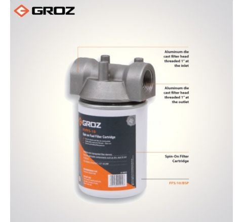 Groz 1 BSP F  Fuel Filter  Spin On Cartridge Style FFS/10/BSP_le_fe_006