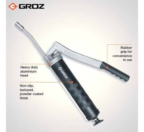 Groz 150 mm Steel Extension Heavy Duty Lever Grease Gun G1R/HD/B_le_ge_052