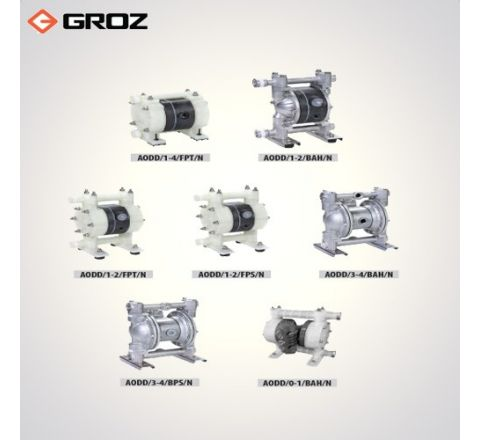 Groz 0 110 LPM Air Operated Double Diaphragm Pump AODD/3 4/BAH/N_le_woh_009